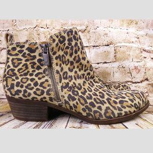 Lucky Brand Basel booties Leopard Sz 8.5 Boots